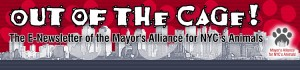 Out of the Cage! The E-Newsletter of the Mayor's Alliance for NYC's Animals